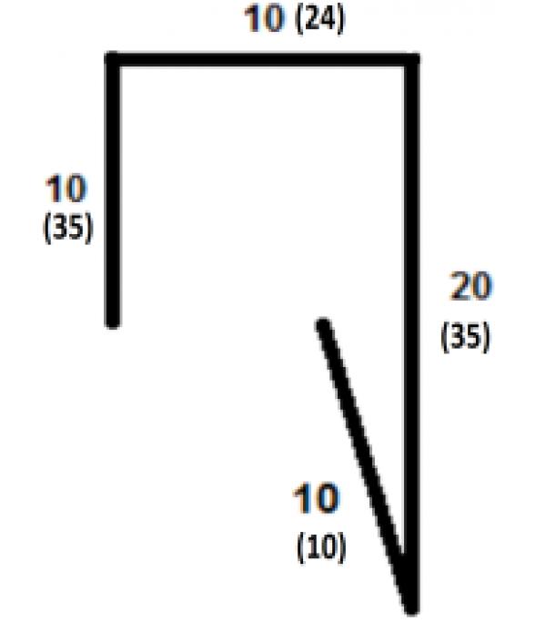 Планка П-образная (для П-образного штакетника) 2000х35х24х35 мм