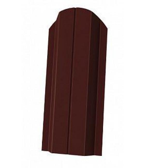 Штакетник Стандарт П-образный фигурный 1500х100 мм